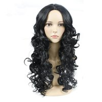 beyonce wigs - Hot Sale Water Curly Wave Lace Fron Wig Long heat resistant fiber hair Beyonce Full wig with clip inside the cap Machine making wig