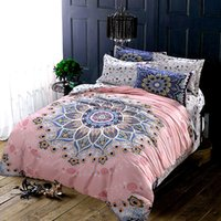 baroque fabric - Vintage European Style Baroque Geometric Exotic Bedding Sets Queen King Size Soft Sanding Brushed Cotton Fabric Duvet Cover Set