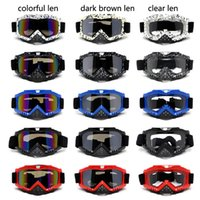 adult atv - 2016 Adult Motocross Goggles with Nose Guard Safe Cycling Goggles For Moto crossing Dirt Bike Downhill ATV Riding Women and Men