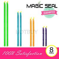 Wholesale 500X Set of Magic Bag Sealer Stick Unique Sealing Rods Sealing Bar Clip Sealer For Food Storage Sealing Cllip Sealing Clamp Clip