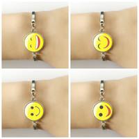 arts beaded bracelets - Hot sale fashion Smile Expression Bracelet art glass silhouette classic minimalist style personalized bracelet jewelry fine gifts