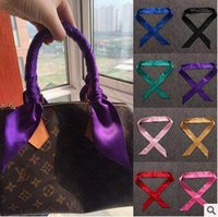 Wholesale 31 Designs cm Multi Function Silk Twilly For Bag Handle Decorated Women Scarves Scarf Headband Wrist Jewelry Headband CCA4776