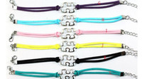 other awareness ribbons colors - 25pc hot sale new design Colors Mixed Handmade Velvet Ribbon Wrapped Metal Silver Puzzle Piece Autism Awareness Charm Bracelet