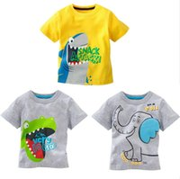 age tees - 2016 New Summer Cool Baby Kids Boys Cartoon Yellow and gray Tees Tops shirts For Age Y