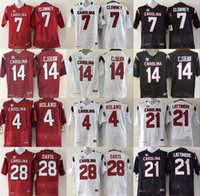 Wholesale South Carolina Gamecock Jersey Football Ncaa College Jadeveon Clowney Marcus Lattimore Mike Davis Shaq Roland Connor Shaw White Red Bla