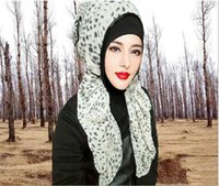 Wholesale hijabs chiffon hijabs muslim warp ship spring summer hot sale hijabs leopard beautiful