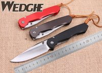 ball wedge - Wedge Kevin Loksa Colors Avaiable D2 Blade Aluminum Alloy Handle Flipper Ball Bearing Utility Promotion Camping Hunting Tactical Knives