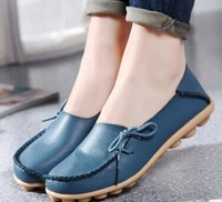 big nurses - Spring Summer Women s Shoes With The Leisure Lazy Shallow Mouth Big Yards Of Leather Shoes Mother Doug Flat Nurse Women s Shoes
