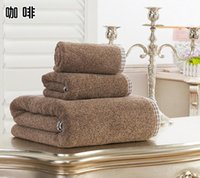 Wholesale Luxury High quality cotton ISLAND STYLE Piece Bath Towel Set Bath Towel Face towel hand towel g