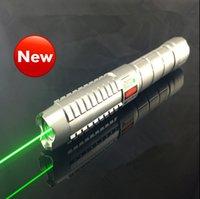 Wholesale Green laser pointer high power nm focusable can burn match burn cigarettes pop balloon Charger Original box