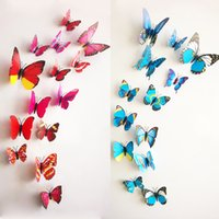 beautiful bedroom sets - 5 set set A beautiful art design d Butterfly Tatoos color Wall Sticker Home Decoration Adesivo Parede