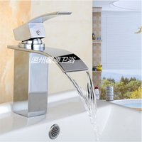 Wholesale Factory direct sale waterfall spout for washbasin mixer tap deck installation order