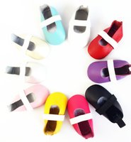 ballet flats toddlers - Baby Girls Ballet Shoes Flats Shoes Genuine Leather Soft Sole Newborn First Walkers Crib Shoes Toddler Moccasins Chaussures De BeBe Sapatos