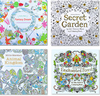 Wholesale 4 Design Secret Garden An Inky Treasure Hunt and Coloring Book Children Adult Relieve Stress Kill Time Graffiti Painting Drawing Book B001