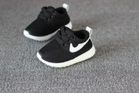 Wholesale Spring Autumn Children Shoes Blue Red Black Breathable Comfortable Kids Sneakers Boys Girls Toddler Shoes Baby Size21