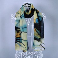america ink - Hot Sell The new Europe and America fashion Ink and Wash big Flower Velvet chiffon scarves cm