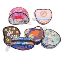 Wholesale Heart Shape Makeup Case Cosmetic Bag Lady Purse Bags Zip Wash Organizer Toiletry Pouch kind of Styles