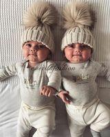 ball beanie babies - 5 Color Fashion Children Kids Winter Fur Hat Girls Boys Fur pom poms Ball Baby Beanies Cap Kids Crochet Knitted Hats M344 B