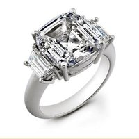 Wholesale 2 ct Asscher Cut H VS1 Diamond Wedding Ring EGL USA Square nice