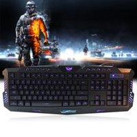 basic keyboard - Hot Selling Three Adjustable Backlight Colors USB Wired Gaming Basic Types Keyboard for Laptop Desktop Black