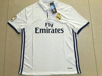 Wholesale 2017 Thai Quality Real madrid soccer Jerseys Uniforms RONALDO home white Maillot de foot JAMES BALE RAMOS ISCO football shirts