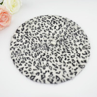 Wholesale 2016 New Arrival Fashion Women Hat Sexy Female Winter Wool Leopard Printed Beret Cap Colors Beanie Hats