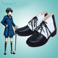 Wholesale Black Butler Ciel Phantomhive Cosplay Shoes Boots Professional Handmade Perfect Custom for You