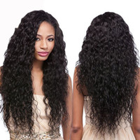 bank water - Glueless Full Lace Human Hair Wigs Wavy Lace Front Wigs Unprocessed Virgin Brazilian Water Wave For Black Women quot In Stock