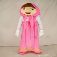 Wholesale Professinal lovely masha and the bear mascot costumes for adults animal mascot costume festival fancy dress factory directly sale