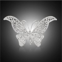 african collectibles - Hot new European style customizable butterfly brooch inlaid diamond brooch pin Collectibles