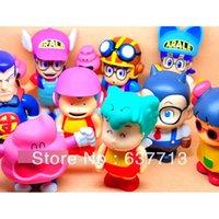 arale norimaki - 1 set Anime Cartoon Dr Slump Arale Gachan Norimaki Nico Chan PVC Figures Toys set of retail