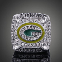 Cheap Free Shipping High Quality Heavy Solid Green Bay Packer 2010 Super Bowl Championship Ring Sport Fan Best Gift Men Jewelry Wholesale