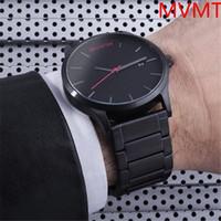 Wholesale Top fashion watch genuine wristwatch Vine Quartz Military Watch men luxury watch reloj Black steel business watch