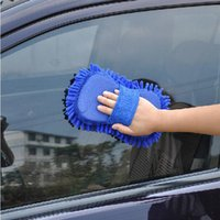 Wholesale Car Styling Sponge Microfiber Washer Towel Duster For Cleaning Detailing Washing Brushes Random Color to Ship