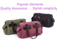Wholesale 1pcs trendy high end travel bag shoulder Messenger bag handbag shopping canvas a variety of colors to support the