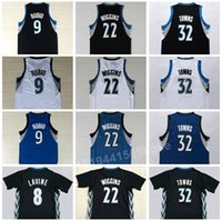 Wholesale New Karl Anthony Karl Anthony Towns Jersey Ricky Rubio Andrew Wiggins Zach LaVine Black with sleeve White Blue Home