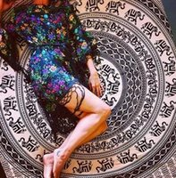 Wholesale Ethnic Round Animal Elephant Camping Picnic Yoga Mat Beach Towel Hippie Tapestry Wall Hanging Indian Mandala Tapestries Bedspread Decor