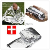 Wholesale New Good Hot Sale Hiking Camping Supplies silvery silver Mylar Waterproof Emergency Rescue Space Foil Thermal Blanket Outdoor Pads