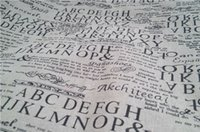 abc crafts - linen cotton zakka fabric Abc letters pattern wallpaper curtain sofa diy manual arts or crafts sold by yard