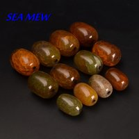 Wholesale mm mm mm Red Ice Crack Barrel Beads Agate Stone Beads Loose Bead For Jewelry Making bz