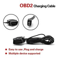 OBD 2 16pin macho a conector mini USB OBD 2 Potencia de carga del cargador cable del convertido para el teléfono DVR cámara de vídeo digital GPS