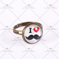 beard rings - Big discount mm Fashion ring women s love Glass cabochon rings Cartoon ring Ring The I love the beard D036