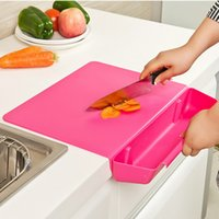 Wholesale Thick non slip cutting board mat with vegetable baskets removable combo chopping boards kitchen accessories cook tools