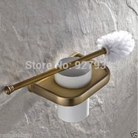 Wholesale Bathroom Wall Mounted Toilet Brush Holder Antique Brass Finished