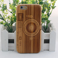 bamboo camera iphone case - Camera Design Bamboo carving case for iphone s Carved Wood Phone Case for iphone s plus Free DHL shipping