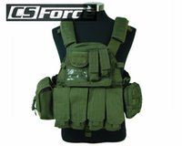 Wholesale Airsoft Tactical Molle Vest D Nylon Military Combat Vest Outdoor Lightweight Hunting Camping Climbing Vests Olive Drab