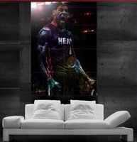 Wholesale LeBron James Miami Poster Art Print MVP heat miami slam dunk Wall Poster parts giant huge NO10