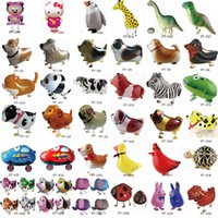 inflatable toy - 500pcs High Quality Walking Animal Balloon Inflatable Aluminum Walking Pet Balloon Christmas Party Decoration Children Toys
