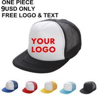 plain trucker cap - Plain Trucker Caps Custom Printing Logo Blank Mesh Hats Adjustable Snapbacks Personalized Gorras For Adults Mens Womens MOQ