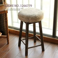 Wholesale 2015 NEW Practical American country style residential furniture wood linen cloth small stool living room decoration stool